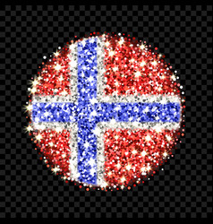 Norway flag sparkling badge vector