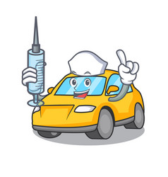 Nurse taxi character cartoon style vector