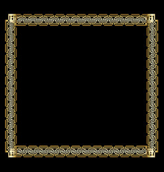 ornate luxurious golden frame in art deco style on vector image