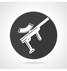 Paintball rifle black round icon vector image