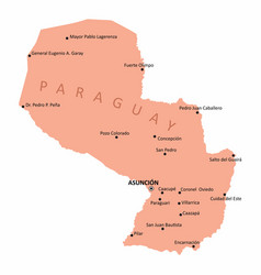 paraguay isolated map vector image