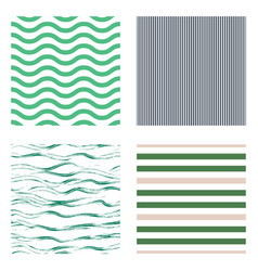 pattern stripe seamless design set for wallpaper vector image