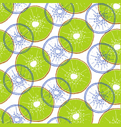 Pattern with kiwi vector