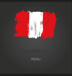 peru grunge flag isolated on dark background vector image