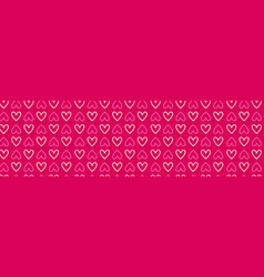 pink hearts horizontal banner decoration for vector image