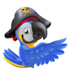 pointing pirate parrot vector image