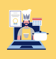 Professional chef occupation vector
