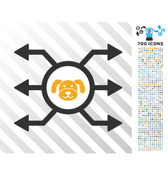 Puppycoin node cashout flat icon with bonus vector