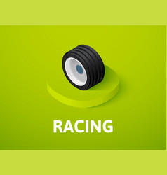 racing isometric icon isolated on color vector image