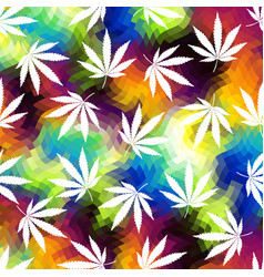 Rastafarian grunge hemp leaves vector