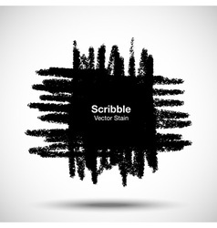 Scribble stain Hand drawn in pencil vector