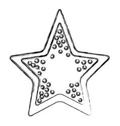sea star symbol vector image