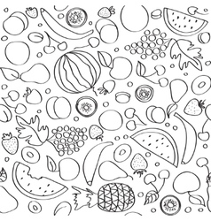 Seamless doodle cartoon pattern of summer vector image