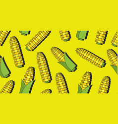 Seamless pattern with corn vector