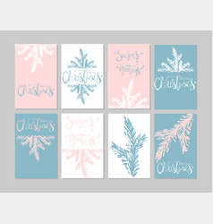 set christmas vector image