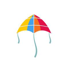 shine kite icon flat style vector image
