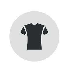 short sleeve t-shirt icon vector image