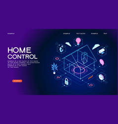 smart home control concept banner vector image