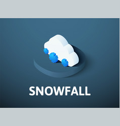 snowfall isometric icon isolated on color vector image
