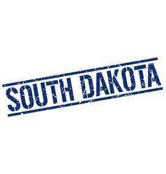 South dakota blue square stamp vector