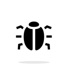 Spy bug icon on white background vector