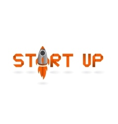 Startup project in origami style Business concept vector image