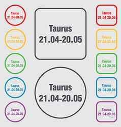 Taurus icon sign symbol on the Round and square vector image