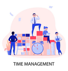 time management composition vector image