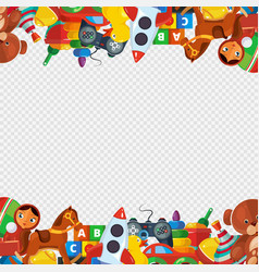 toys frame teddy bear tipper pyramid tumbler vector image
