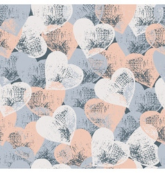 Vintage heart hand drawn seamless pattern vector image