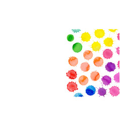 Watercolor bright stains collection o vector