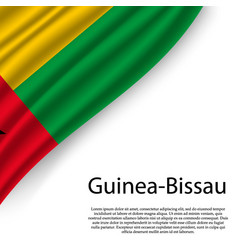 waving flag of guinea-bissau vector image