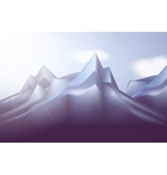 winter landscape with mountains and blue vector image