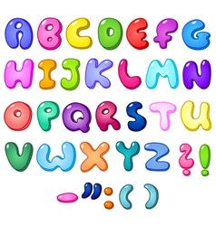 3d bubble alphabet vector image vector image