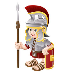 cartoon roman soldier vector image