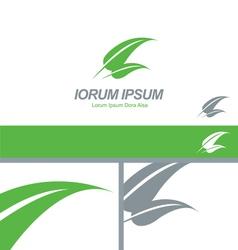 Green Leaf Organic Natural Logo Concept vector image vector image