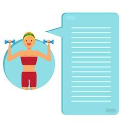 Happy fitness girl vector image