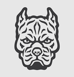 Pitbull Head Logo Mascot Emblem vector image