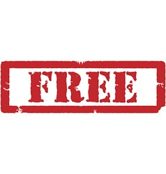 Red stamp free vector image