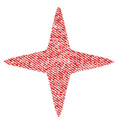 sparkle star fabric textured icon vector image