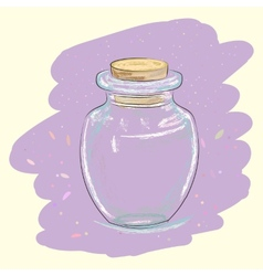 Vintage glass jar vector image