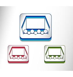 cinema web icon design vector image vector image