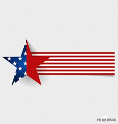 Happy independence day card United States of vector image vector image