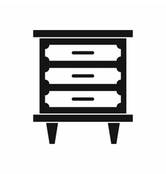 Nightstand icon simple style vector image
