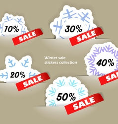 Christmas sale stickers in a pockers collection vector image vector image