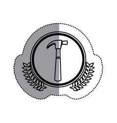 contour symbol hammer icon stock vector image