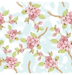 Sakura branch seamless pattern vector image