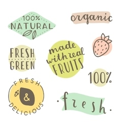 Set of hand drawn cute labels vector image vector image