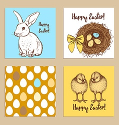 Sketch Easter posters set vector image vector image