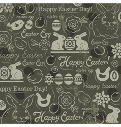 Easter background with rabbits vector image
